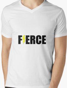 Fierce Lightening Mens V-Neck T-Shirt