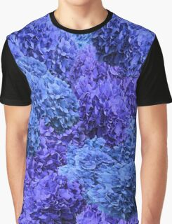 Purple and Blue Hydrangea Blossoms Graphic T-Shirt