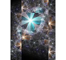 Shattered Flowers - Abstract Fractal Artwork Photographic Print
