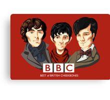 BBC: Best of British Cheekbones Canvas Print