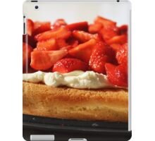 Strawberry Flan. iPad Case/Skin