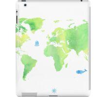 Green planet World map iPad Case/Skin