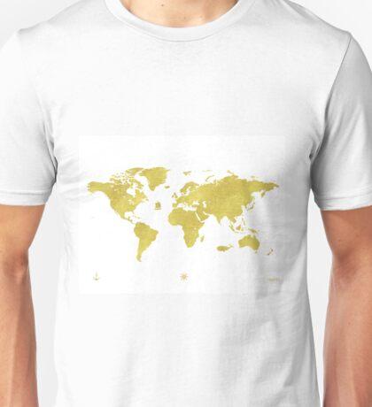 GOLDEN TWO World map Unisex T-Shirt
