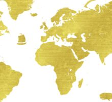 GOLDEN TWO World map Sticker