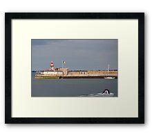 Lighthouse East Pier  Dun Laoghaire  Framed Print