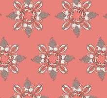 Flower red pattern by -ashetana-