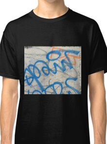 Blue graffiti  Classic T-Shirt