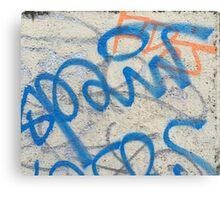 Blue graffiti  Canvas Print