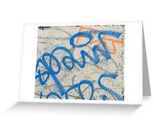 Blue graffiti  Greeting Card