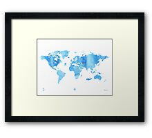 Sky World map Framed Print