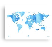 Sky World map Canvas Print
