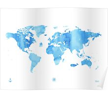 Sky World map Poster