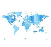 Sky World map Photographic Print