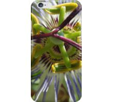 Bright and bold Passion Fruit flower iPhone Case/Skin