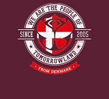 People of Tomorrowland Flags logo Badge - Denmark - Danish - dansk - danois Unisex T-Shirt