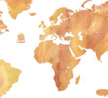 World map stone watercolor Sticker