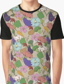 Vegetable Flowers Graphic T-Shirt