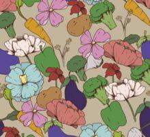 Vegetable Flowers Sticker