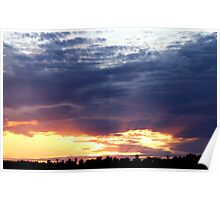 June Sunset Over Cedarville Bay Poster