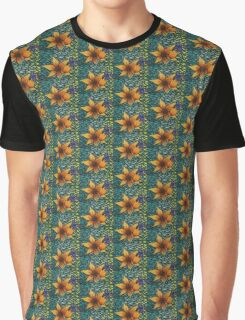 Floral on Green Graphic T-Shirt