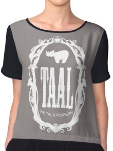 taal - our language Chiffon Top