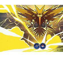 Pokemon GO! - Team Instinct - Zapdos Photographic Print