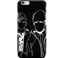 Twenty One Pilots Black and White Tumblr Inspired Outline iPhone Case/Skin