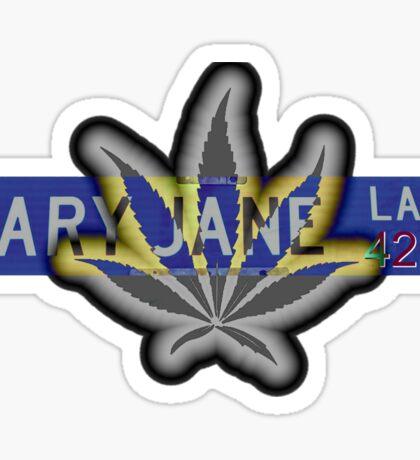 Mary Jane Lane - 420 Sticker
