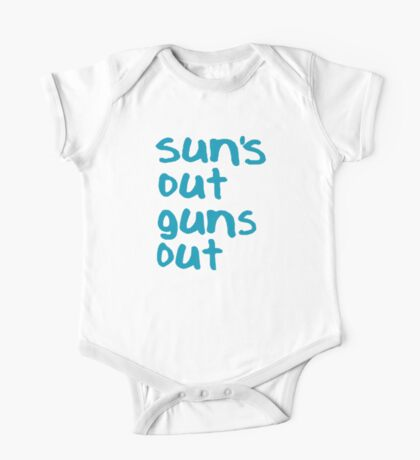 Sun's Out Guns Out - 22 Jump Street One Piece - Short Sleeve