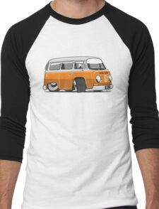 VW T2 Microbus cartoon orange Men's Baseball ¾ T-Shirt