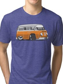 VW T2 Microbus cartoon orange Tri-blend T-Shirt