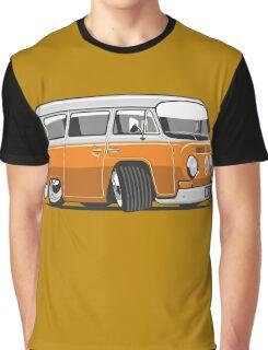 VW T2 Microbus cartoon orange Graphic T-Shirt