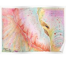 Colorful Elephant in Watercolor Poster