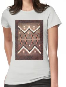 Native American Indian Western Textile Blanket Womens Fitted T-Shirt