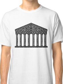 Geometric Pantheon in grey with black outline Classic T-Shirt