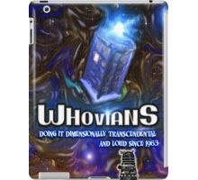 Whovians Facebook Art iPad Case/Skin