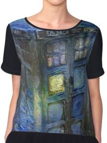 Tardis - Contrasts of Beauty Chiffon Top