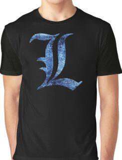 °MANGA° Death Note L Space Logo Graphic T-Shirt