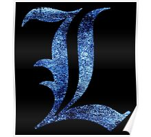 °MANGA° Death Note L Space Logo Poster