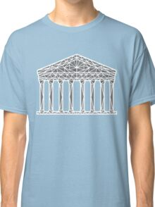 Geometric Pantheon in grey with white outline Classic T-Shirt