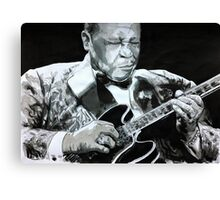 BB King portrait Canvas Print