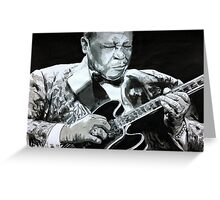 BB King portrait Greeting Card