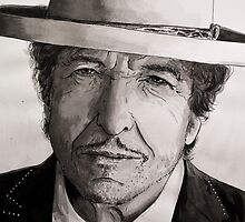 Bob Dylan portrait by geertvanleeuwen