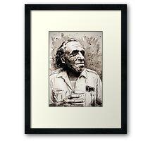 Charles Bukowski portrait Framed Print
