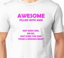 Awsome - full of awe (Pink) Unisex T-Shirt