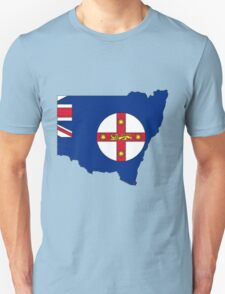 New South Wales Australia Map With Flag Unisex T-Shirt
