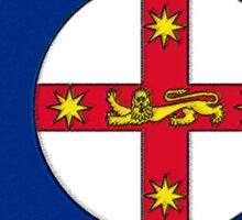 New South Wales Australia Map With Flag Sticker