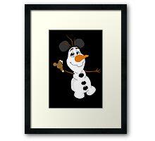 Sidekicks at Disneyland - Olaf Framed Print