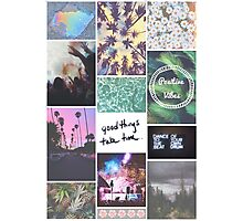 Pale Tumblr Collage Photographic Print