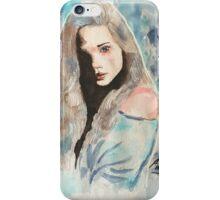 Dessin aquarelle - Femme iPhone Case/Skin
